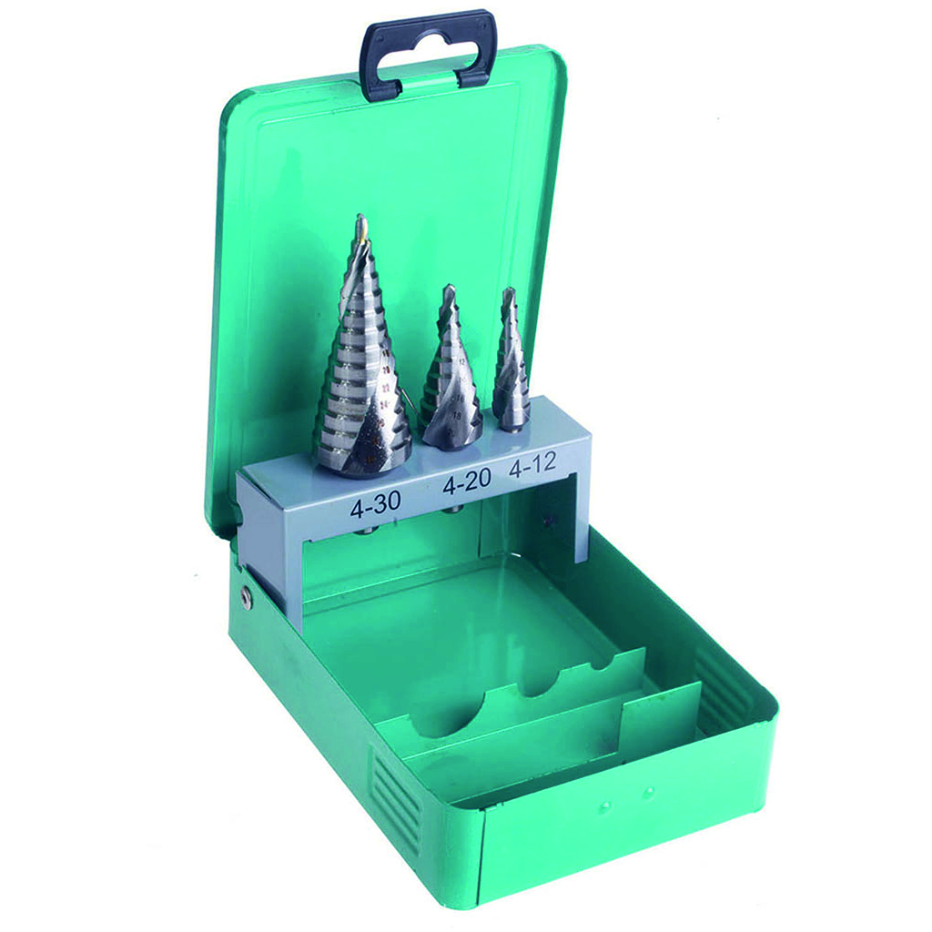 DART 3 Piece Spiral Flute Step Drill Set (D)