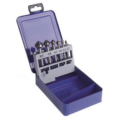 DART 90 Deg 3 Fluted Countersink 6 Piece Set